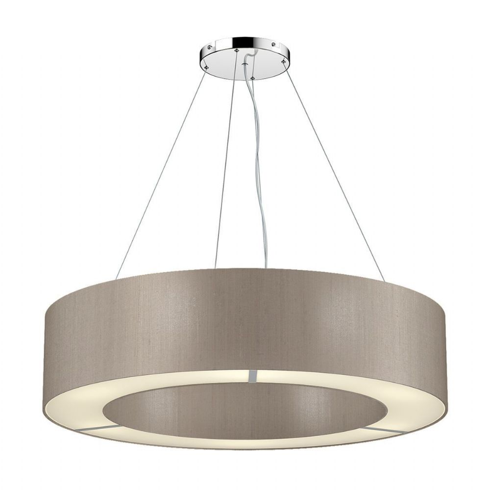 Polo 50CM 4 Light Pendant complete with Silk Shade (Choose Colours) POL04 (Hand made, 10-14 day Del)